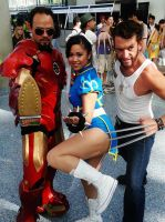 Chun Li Iron Man and Wolverine Anime Expo 2013 by ohsnapitzclara