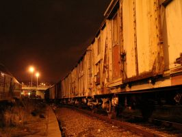 Old Dirty Train by night by Musegandalf