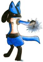 Math class drawing: Lucario by Flylend