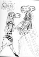 Corpse Bride meets Sally by SilverTallest