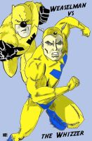 Weaselman vs The Whizzer by nathanobrien