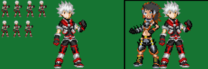 Cyber Knight Crimson in another style by axem-slayer-345