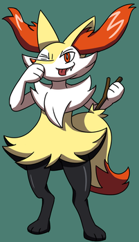 Braixen Cute by Stolken