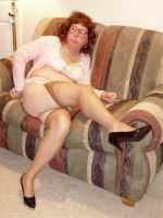 brie black pumps nylons by brielivingston