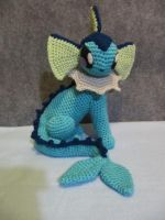 Vaporeon by NerdyKnitterDesigns