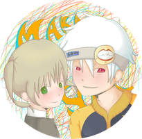 SE: Soul and Maka Button by CaittheCat