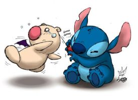 KH2 - Stitch meets a Moogle by MichaelMayne