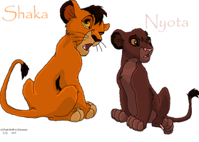 Lion King 3:Shaka and Nyota by Faith-Wolff