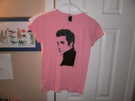 Elvis Shirt with Elvis stencil by AlexisFobe