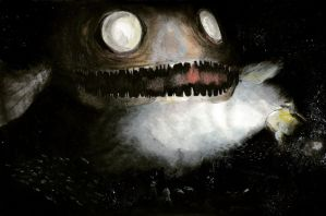 A giant abyssal fish by The-Inception