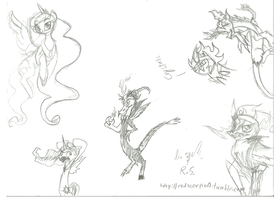 MLP: Sketch dumps!!!!!!!!!! by ModernLisart