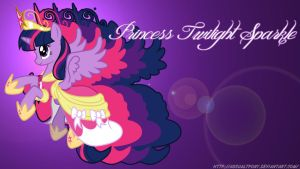 Princess Twilight Sparkle Wallpaper by FlipsideEquis