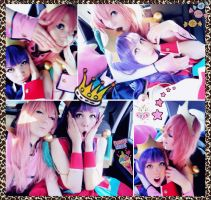 Utena + Anthy: backstage by palecardinal