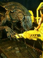 Aliens Queen v Powerloader by Joker-laugh