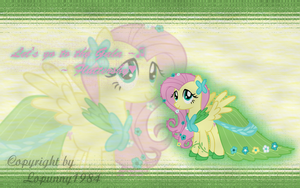 Fluttershy Galadress Wallpaper by Lopunny1984