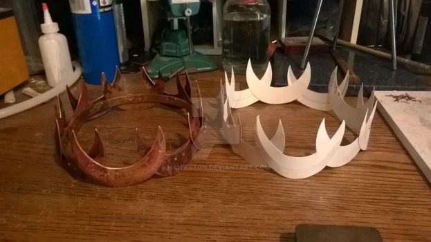 WeaselWerks Copper crown and model crown by Hawkston