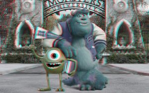 Monsters University Mike and Sulley 3-D conversion by MVRamsey