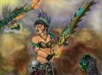 Coyolxauhqui's Last Stand by Guiler-717
