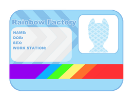 Rainbow Factory Card Base by Rebecca-doodles