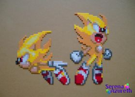 Super Sonics Bead Sprite by SerenaAzureth