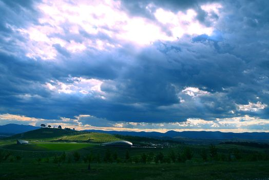Cloudy over National Arboretum by AYMCreations