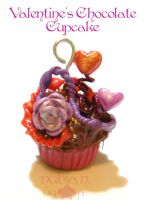 Valentine's Choco Cupcake by colourful-blossom