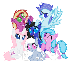 Flamequine Mane 6 Contest-collab Entry by LittleSnowyOwl