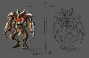 Insectoid Character Concept by Brollonks
