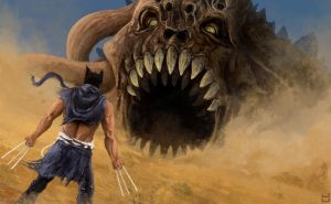 Wolverine VS Tremors by UltimaDX