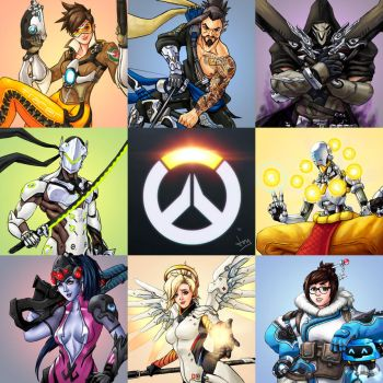 Overwatch 8/8 Collage by Jevi93