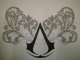 Assassin's Creed belt tattoo design by BloodlessSnow