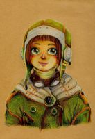 Aviator girl by Little-Mana