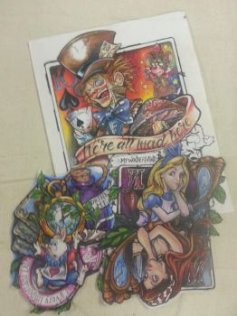 Alice in Wonderland Looking Glass Colored Pencil by tattooeasy