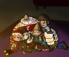 Cozy by the Fire by StripedSweater10