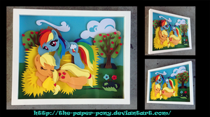 Commission: Appledash at the Acres Shadowbox by The-Paper-Pony