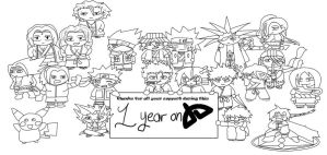 1 Year on DA Lineart by Neighthirst