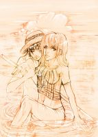 nami X luffy old sketch by AikaXx