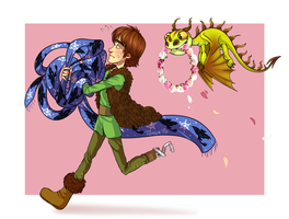 .HTTYD: Going late to a date. by Kikuri-Tan
