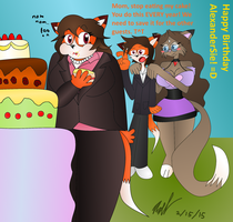 Mig's 'Take a big bite of my son's cake' Tradition by Axel-DK64