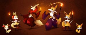 Magic Foxes by arkeis-pokemon