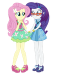 Rarity and Fluttershy - Friendship Games by MixiePie