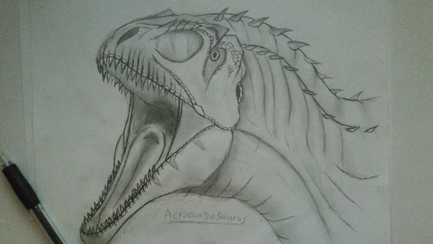Acrocanthosaurus - Head by Fate-Darknu-Dragoon
