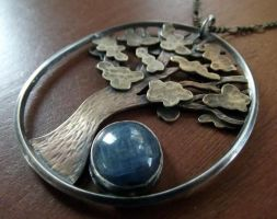 Tree Necklace with Kyanite by MoonLitCreations