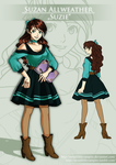 Introducing: Ace Attorney OC Suzan Allweather by SweetLittleVampire
