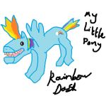 Rainbow Dash Fan Art by ExcellentArtist55