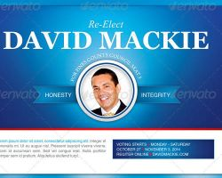 Re - Election Flyer and Door Hanger Template by loswl