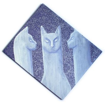 Cat Painting 2 by kleeng