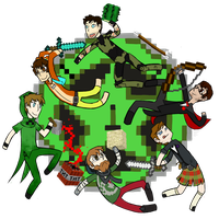 Those Achievement Hunter Dorks by AlmostMyself