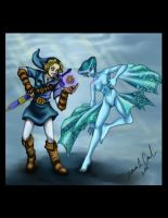 Link and Ruto Ocarina of Time by Rath-Roiben-Rye