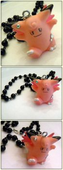 Pokemon: Clefable Necklace by cyborgseamstress